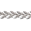 Patterned Strip - 935 Sterling Silver - Leaves - 6 inches