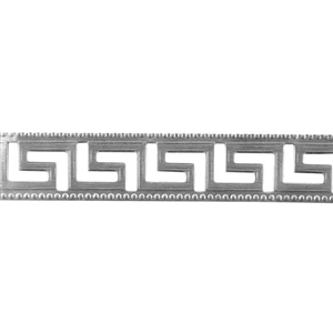 Patterned Strip - 935 Sterling Silver - Maze - 6 Inches