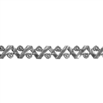 Patterned Strip - 935 Sterling Silver - Woven Flowers - 6 Inches