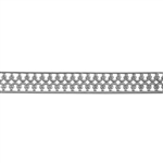 Patterned Strip - 935 Sterling Silver - Double Crown with Edging - 6 Inches