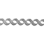 Patterned Strip - 935 Sterling Silver - Triple S - 6 Inches