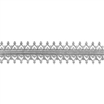 Patterned Strip - 935 Sterling Silver - Double Gallery #2 - 6 Inches