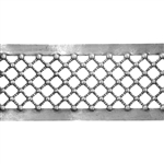 Patterned Strip - 935 Sterling Silver - Beaded Crosshatch - 6 Inches