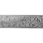 Patterned Strip - 935 Sterling Silver - Garden Flourish 20 gauge - 6 Inches