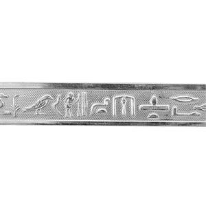 Patterned Strip - 935 Sterling Silver - Hieroglyphics 20 gauge - 6 Inches