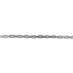 Patterned Wire - 935 Sterling Silver - Rope #4 - 6 Inches