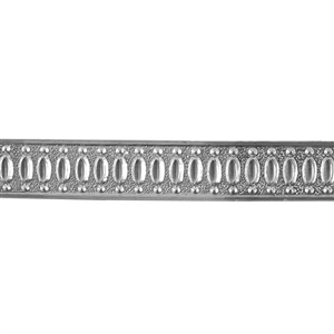 Patterned Strip - 935 Sterling Silver - Jeweled 18 gauge - 6 Inches