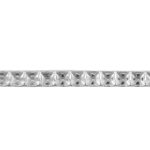 Patterned Strip - 935 Sterling Silver - Bevel Stud 12 gauge - 6 Inches