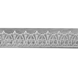 Patterned Wire - Sterling Silver - Crowned Jewel 22 gauge Dead Soft - 6""
