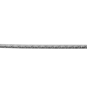 Patterned Wire - 935 Sterling Silver - Morse Code 18 gauge - 6 inches