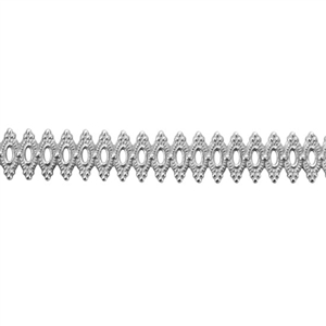 Patterned Strip - 935 Sterling Silver - Royalty 20 gauge - 6 Inches