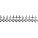 Patterned Strip - 935 Sterling Silver - Tempest 18 gauge - 6 Inches