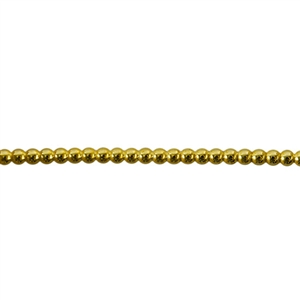 Patterned Wire - Brass - Polka Dots 12 gauge - 6 inches
