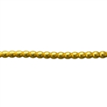 Patterned Wire - Brass - 2.5mm Polka Dots 10 gauge - 6 inches