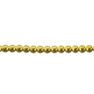 Patterned Wire - Brass - 3mm Polka Dot 8 gauge - 6 inches