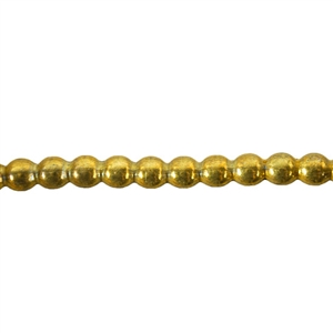 Patterned Strip - Brass - Polka Dots 12 gauge - 6 inches