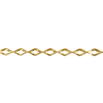 Patterned Strip - Brass - Diamonds - 6 inches