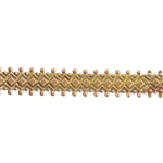 Patterned Wire - Brass - Double Dotted Diamond 24 gauge Dead Soft - 6""