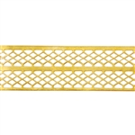 Patterned Wire - Brass - Mesh Ribbon 24 gauge Dead Soft - 6""