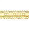 Patterned Strip - Brass - Hammered Lacy Filigree 18 gauge - 6 inches