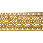 Patterned Wire - Brass - Floral Ribbon with Edging 24 gauge Dead Soft - 6""