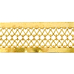Patterned Strip - Brass - Double Serpentine Hammered with Edging 22 gauge - 6 inches
