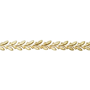 Patterned Strip - Brass - Leaves
