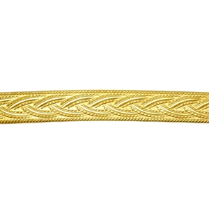 Patterned Wire - Brass - Rope #1 18 gauge Dead Soft - 6""