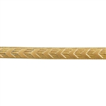 Patterned Wire - Brass - Chevron 14 gauge Dead Soft - 6""
