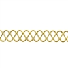 Patterned Strip - Brass - Serpentine - 6 inches