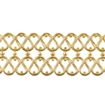 Patterned Wire - Brass - Double Serpentine 20 gauge Dead Soft - 6""