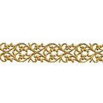 Patterned Wire - Brass - Blooming Heart 22 gauge Dead Soft - 6""