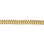 Patterned Strip - Brass - Leaves #4 - 6 inches