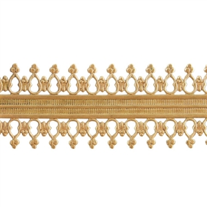 Patterned Strip - Brass - Double Beaded #2 - 6 inches