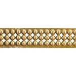 Patterned Strip - Brass - Round Stud - 6 inches