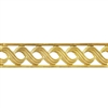 Patterned Strip - Brass - Triple S with Edging - 6 inches
