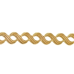 Patterned Strip - Brass - Triple S - 6 inches