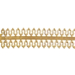 Patterned Strip - Brass - Double Loop #1 - 6 inches