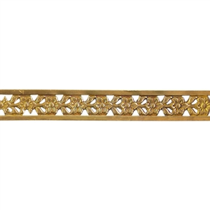 Patterned Strip - Brass - Edged Flower - 6 inches