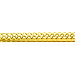 Patterned Strip - Brass - Knotted Rope with Edge 22 gauge - 6 inches