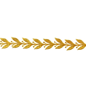 Patterned Strip - Brass - Leaves #5 22 gauge - 6 inches