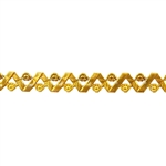 Patterned Strip - Brass - Woven Flowers 22 gauge - 6 inches