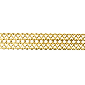 Patterned Strip - Brass - Double Serpentine Small 24 gauge - 6 inches