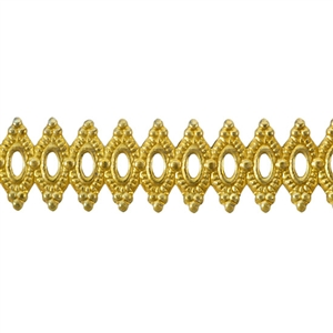 Patterned Strip - Brass - Royalty 20 gauge - 6 inches