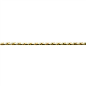 Patterned Wire - Brass - Rope #3 16 gauge Dead Soft - 6""