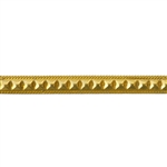 Patterned Strip - Brass - Studded Square 16 gauge - 6 inches
