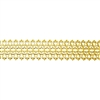 Patterned Strip - Brass - Lacy Filigree 20 gauge - 6 inches