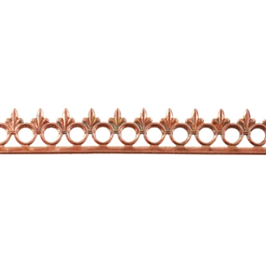 Bezel Wire - Copper - Gallery #4 - 20  gauge - 6 inches
