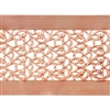 Patterned Strip - Copper - Floral Ribbon - 6 inches