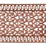 Patterned Wire - Copper - Floral Ribbon with Edging 24 gauge Dead Soft - 6""